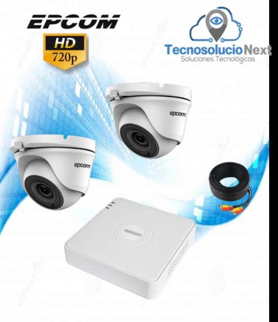 Kit 2 cámara domo epcom 720p