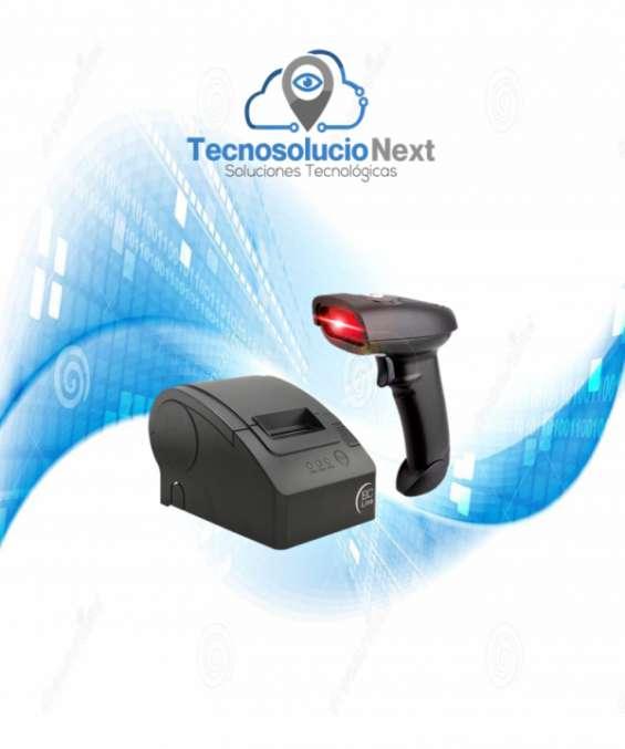 Kit impresora con lector pos usb punto de venta 58 mm térmica